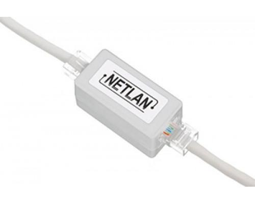 Соединитель NETLAN  RJ-45/RJ-45 проходной, белый