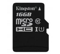 Память MicroSD 16Gb class 10 Kingston UHS-I